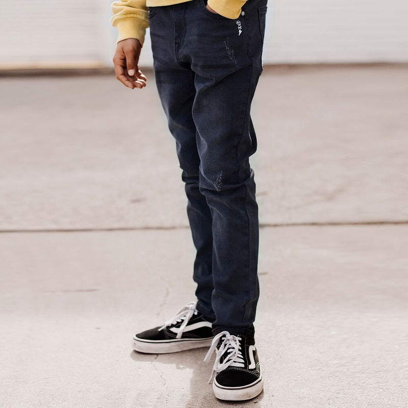 Alphabet Soup Misfit Denim Ash - Threads for Boys