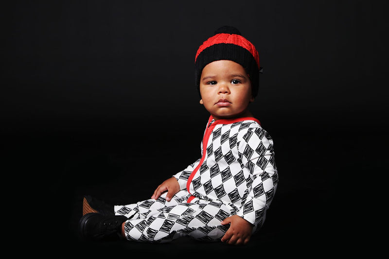 Anarkid Harlequin Zip Romper - Threads for Boys