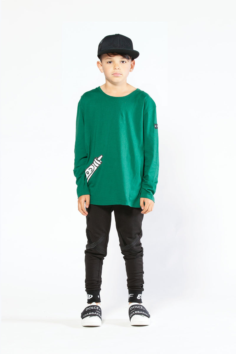 Cool Crayon Oversize Longsleeve Tee - Threads for Boys