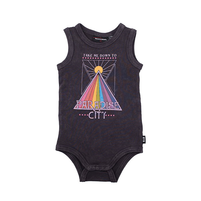 PRE-ORDER Rock Your Baby Paradise City Bodysuit - Threads for Boys