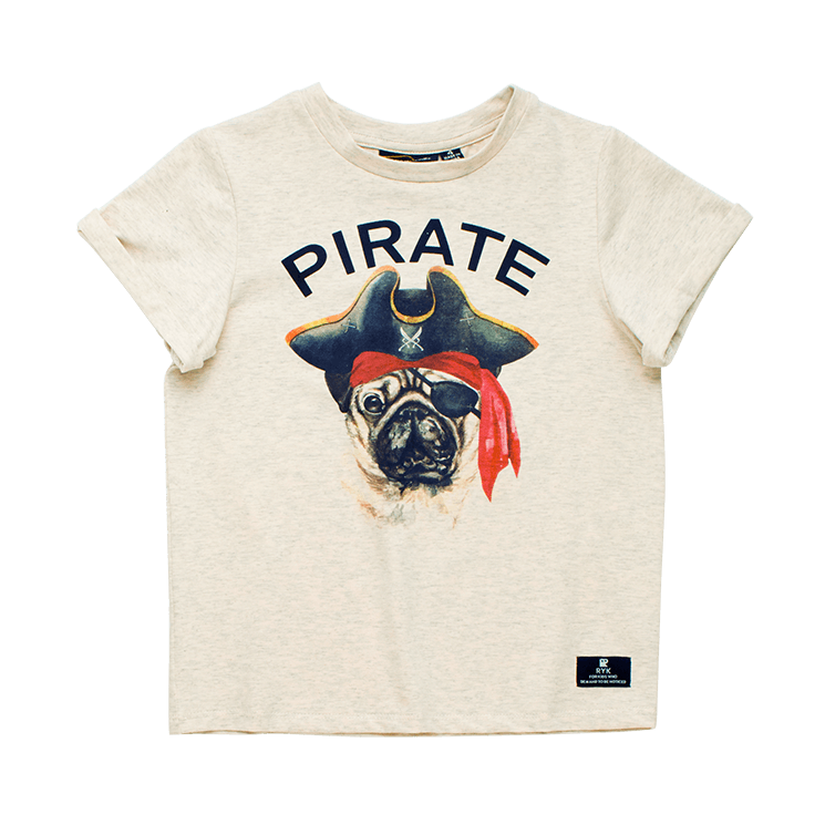 Rock your Baby Pirate Pug T-Shirt