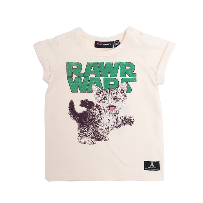 Rock Your Baby Rawr Wars Baby T-Shirt - Threads for Boys