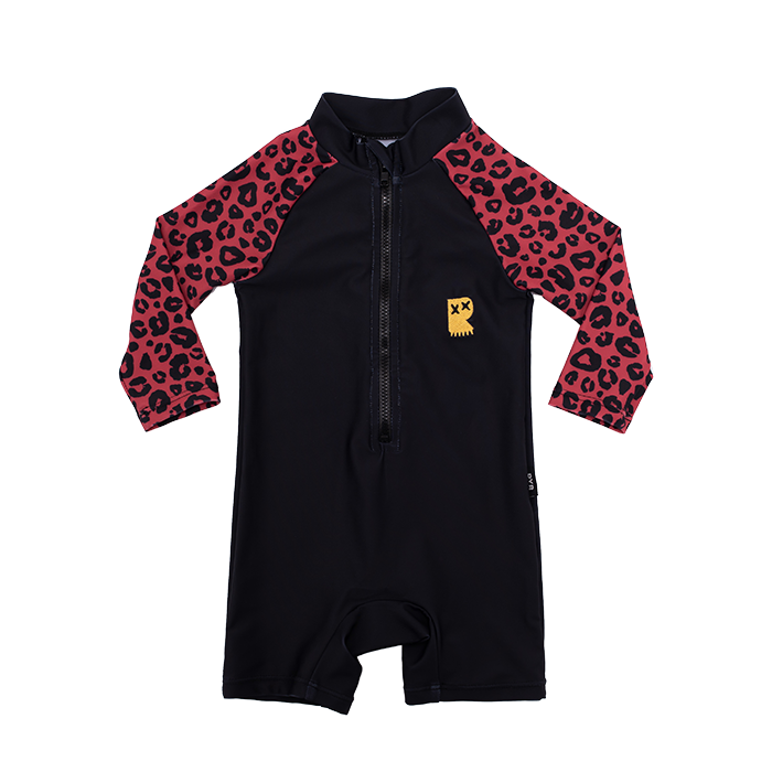Rock Your Baby Red Leopard Swimsuit - Threads for Boys
