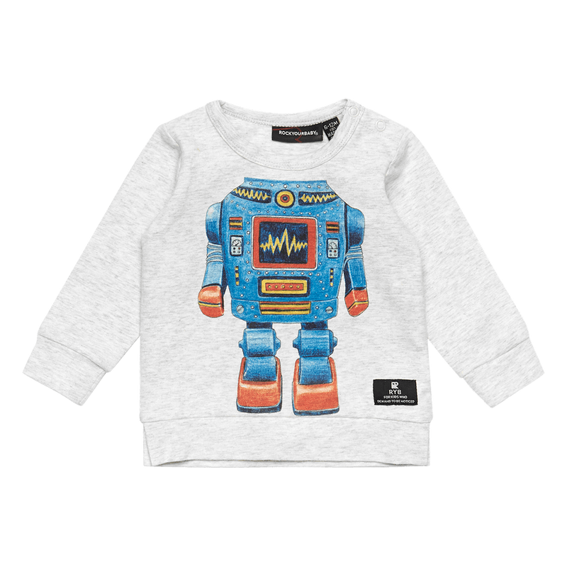 Rock Your Baby Robo Kid Baby T-Shirt - Threads for Boys