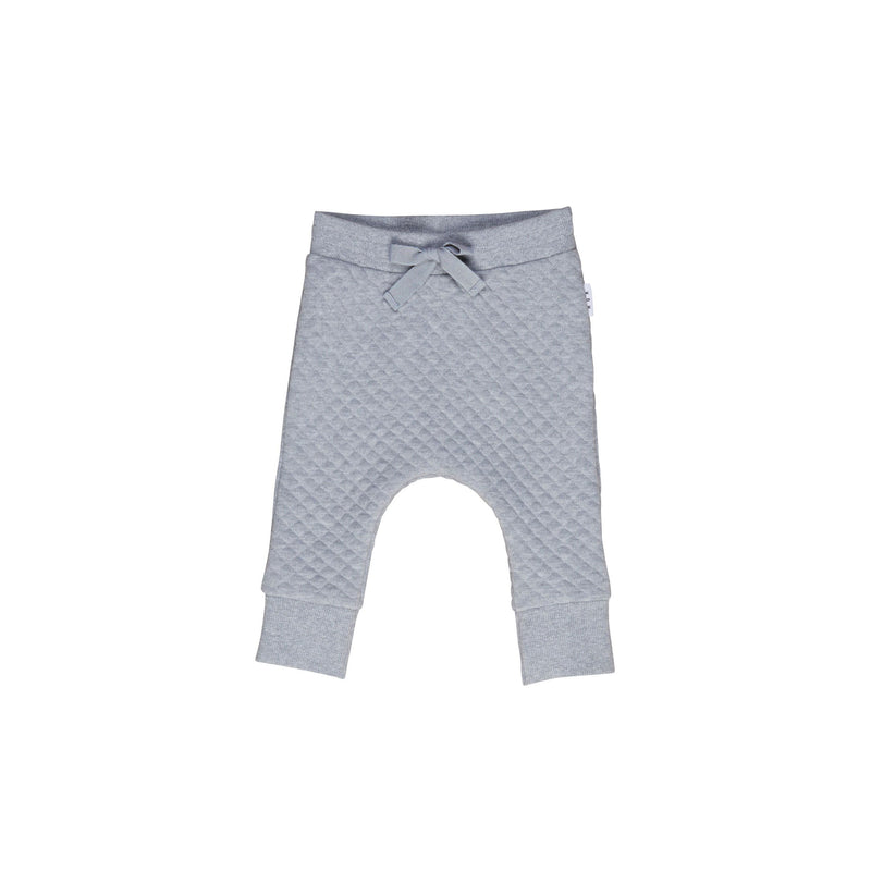 Huxbaby Grey Marle Stitch Drop Crotch Pant
