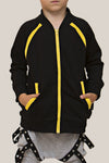 Convertible Sports Luxe Jacket Black/Yellow - Threads for Boys