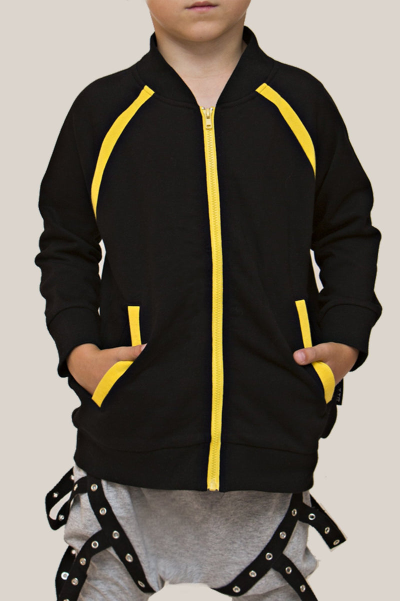 Convertible Sports Luxe Jacket Black/Yellow