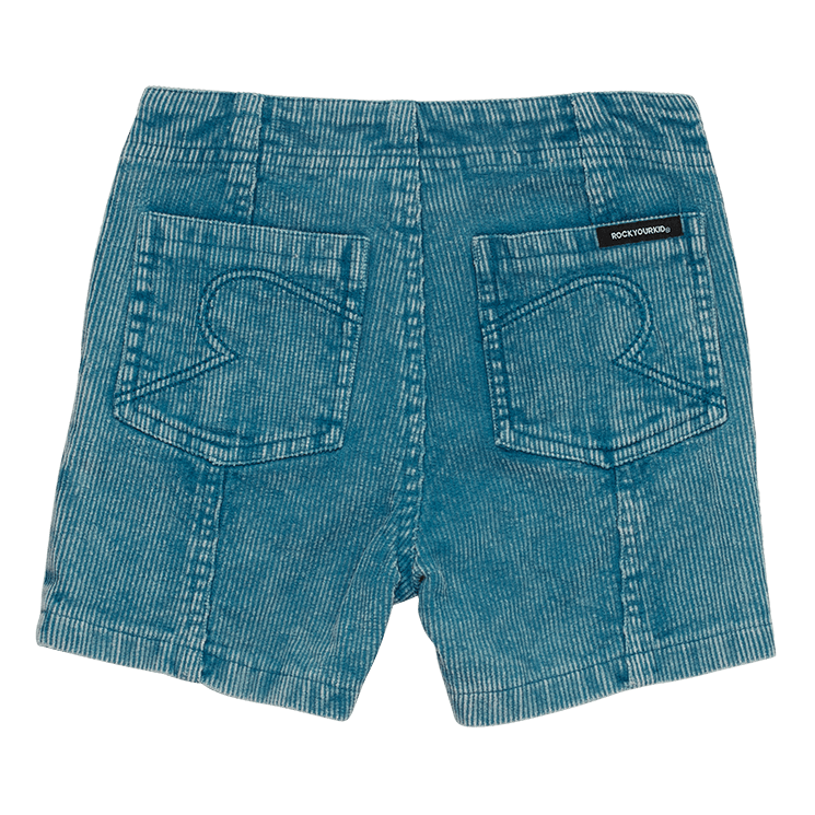 Rock your Baby Washed Blue Corduroy Shorts