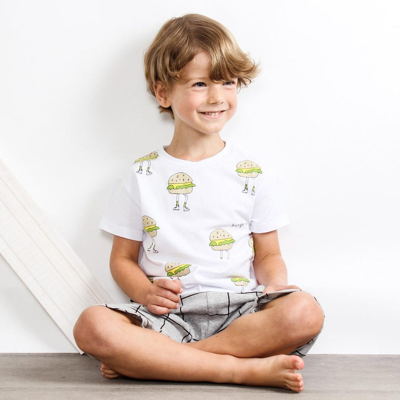 Tiny Tribe Burger Run Tee - Threads for Boys