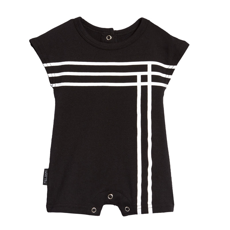 Tiny Tribe Line short leg playsuit