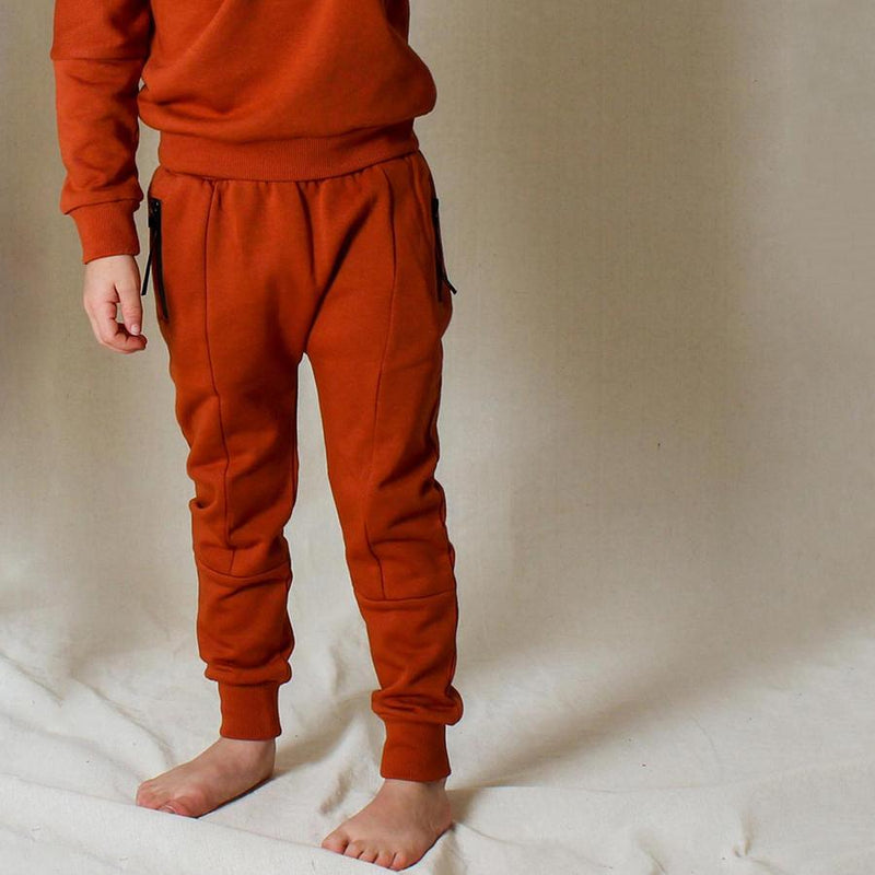 Tiny Tribe Terracotta Zip Sweatpant