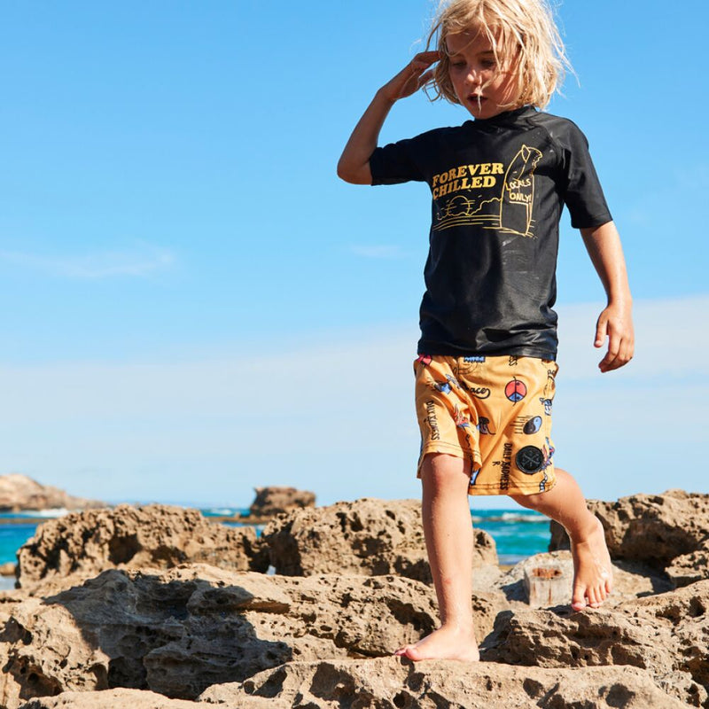 Alphabet Soup Daily Radness Boardshorts - Threads for Boys