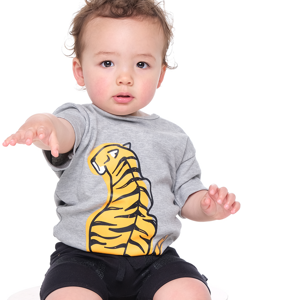 Organic Baby Tiger Back Onesie - Threads for Boys