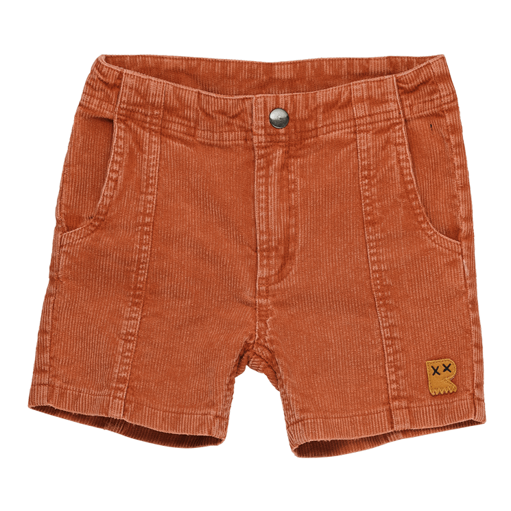 PRE-ORDER Rock your Baby Washed Rust Corduroy Shorts