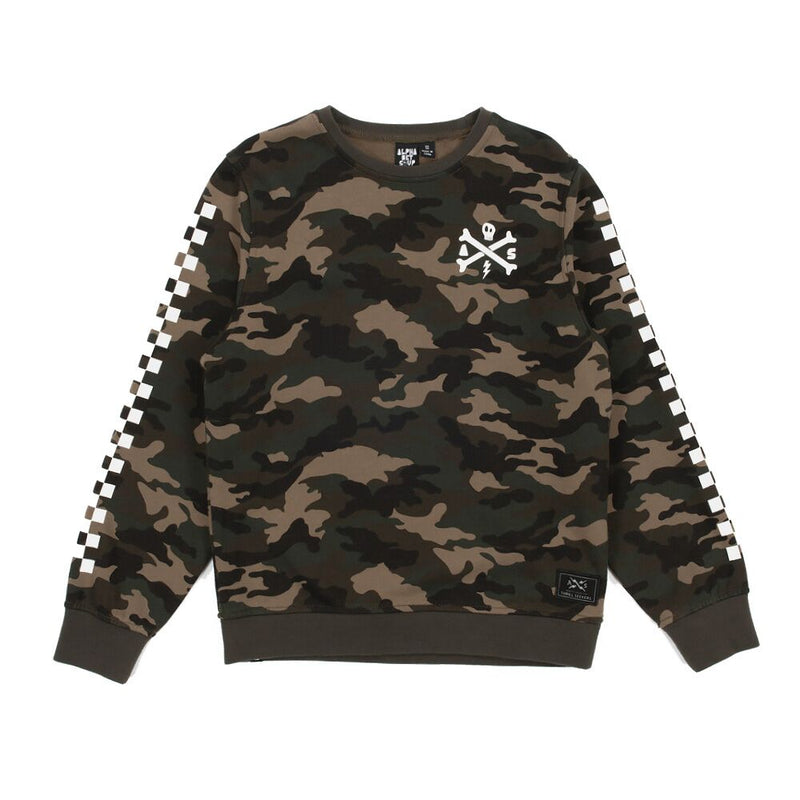 Alphabet Soup Camo Racer Crew - Threads for Boys