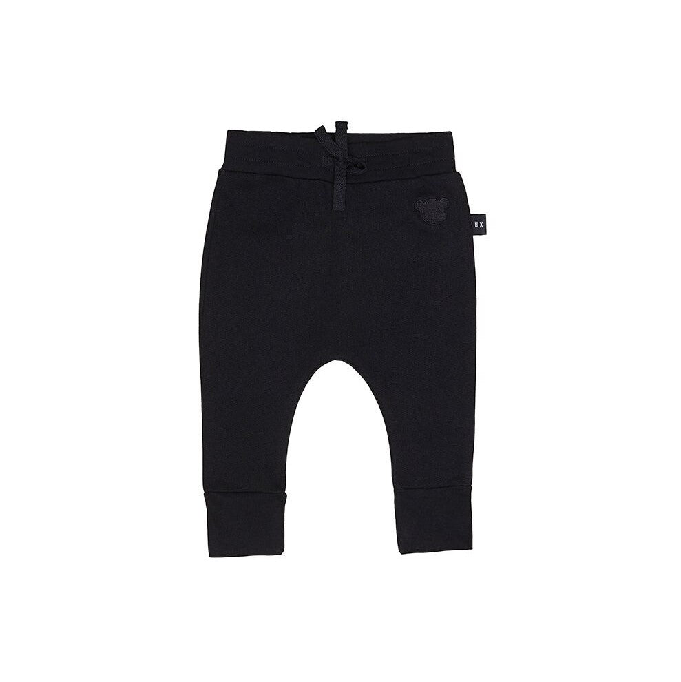 Huxbaby Black Drop Crotch Pant - Threads for Boys