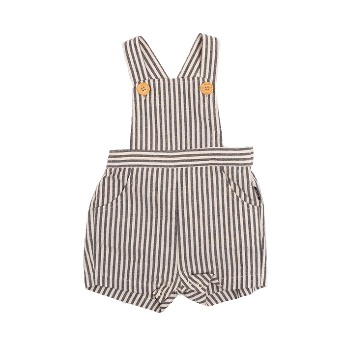 Rock your Baby Black Stripe Baby Overalls - Threads for Boys