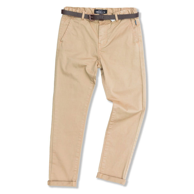 Indie Kids Cuba Chino Pant Caramel - Threads for Boys