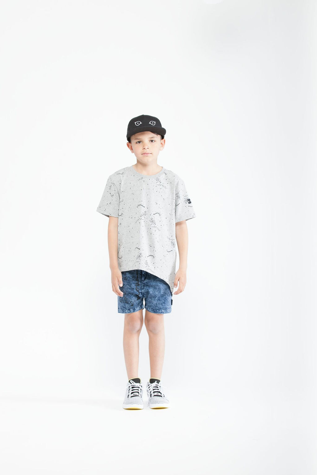 Cheetah Splat Asymmetric hem tee - Threads for Boys