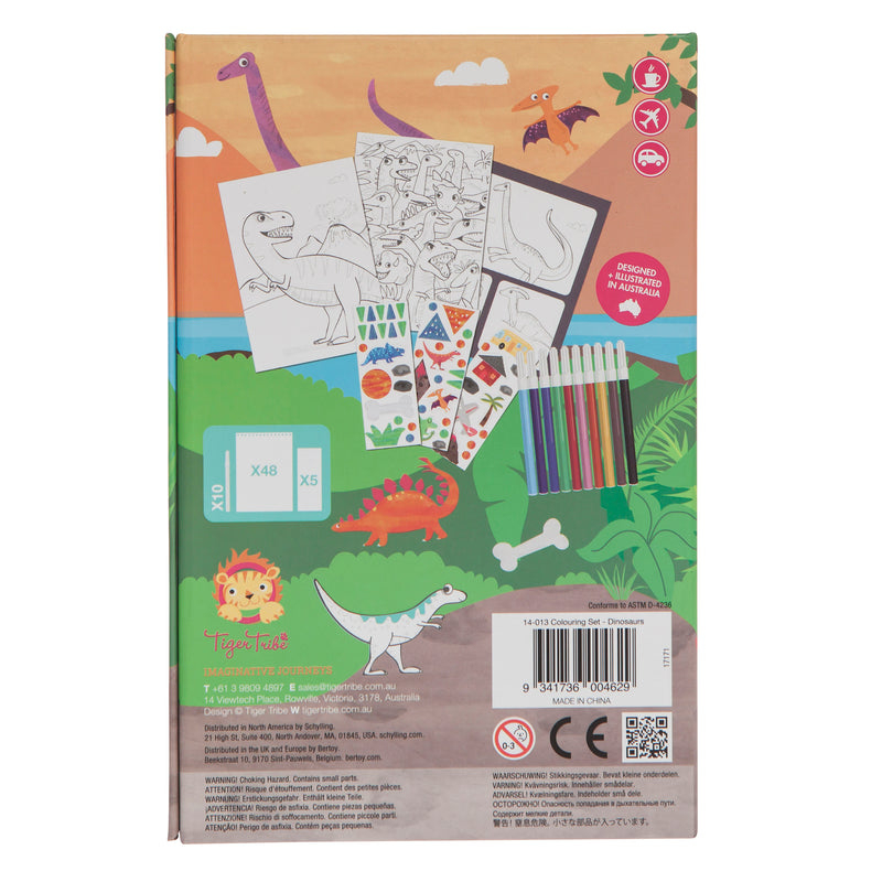 Tiger Tribe Colouring Set - Dinosaur - Threads for Boys