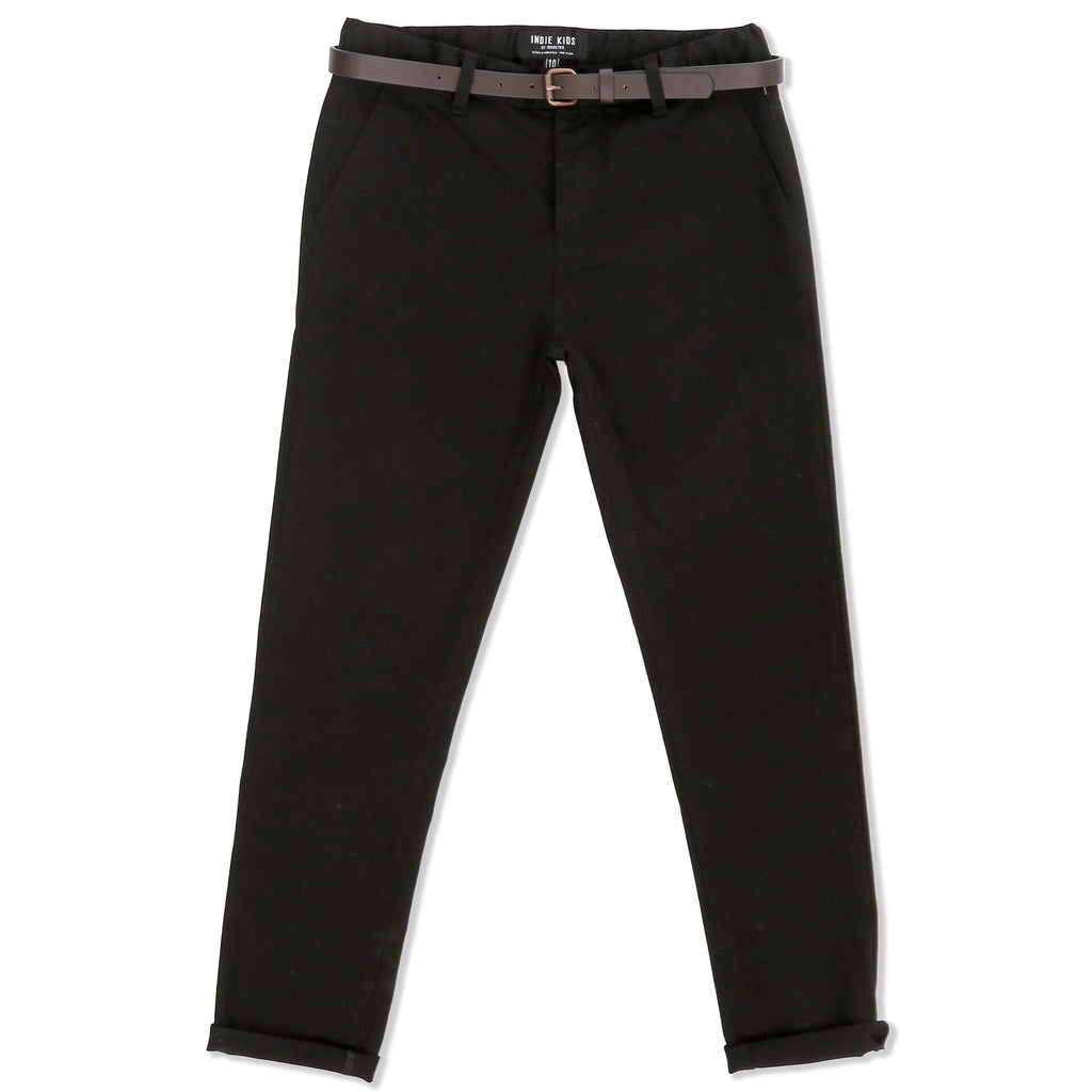Indie Kids Cuba Chino Pant Black - Threads for Boys