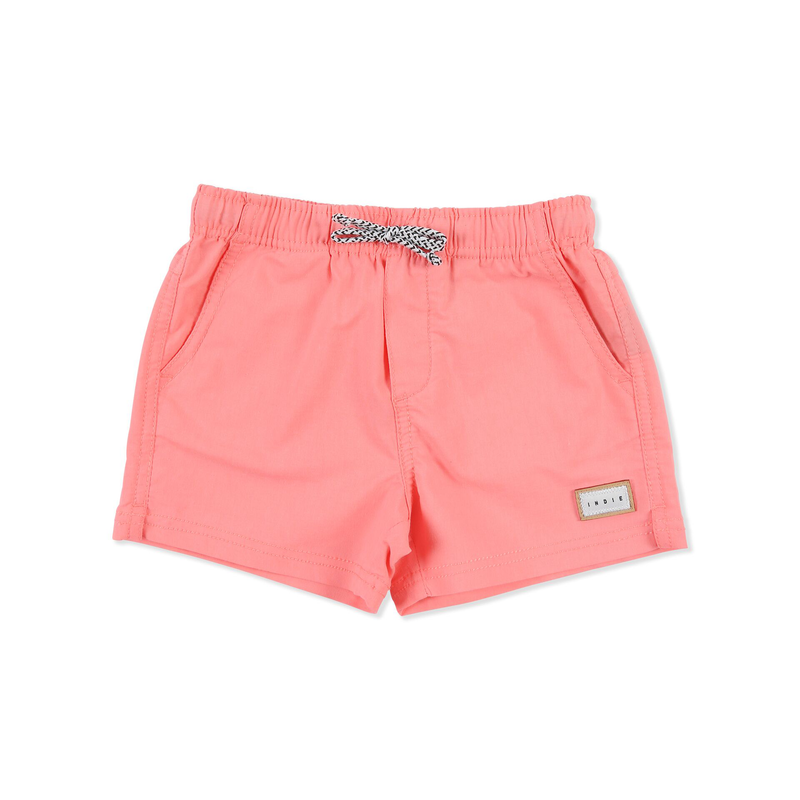 Indie Kids Neon Pink Swim Short - Threads for Boys