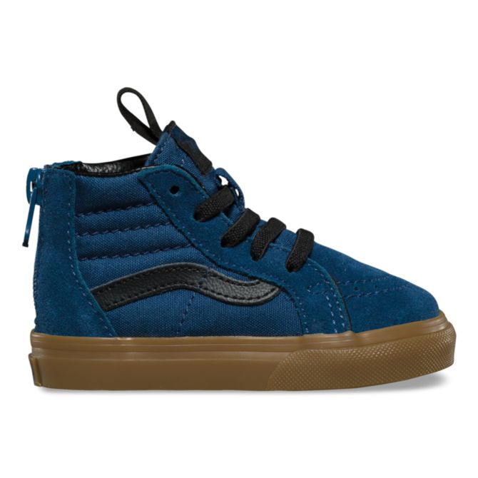 Vans Toddler Denim Gum SK8-HI Zip - Threads for Boys
