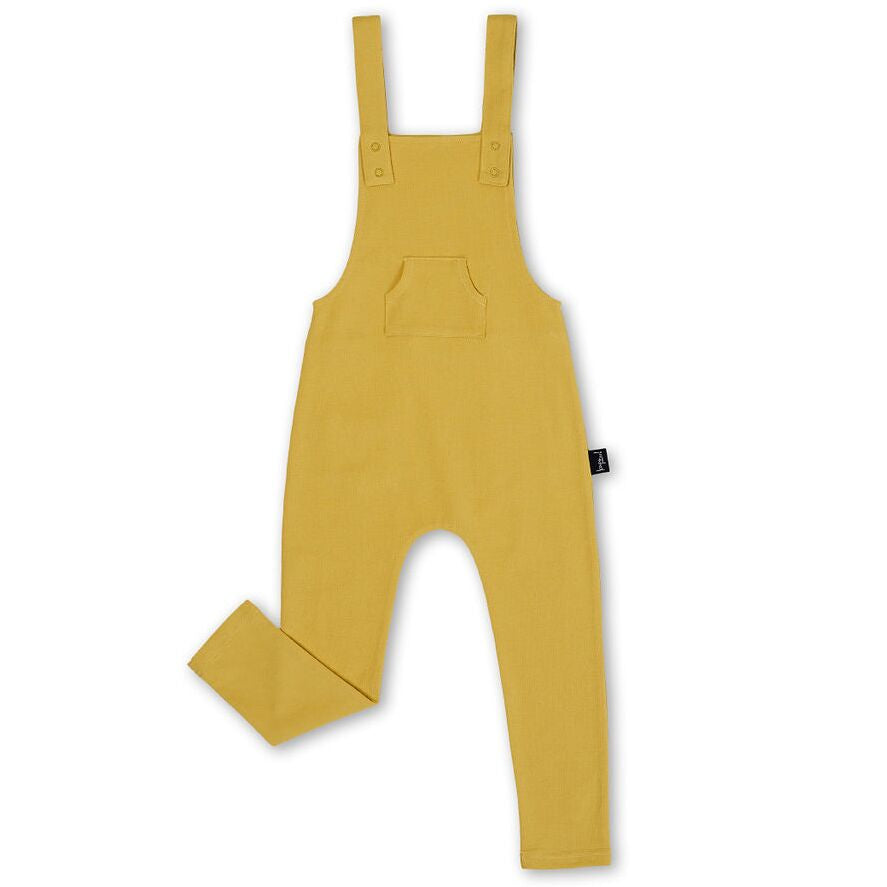 Kapow Kids Mustard Overalls - Threads for Boys