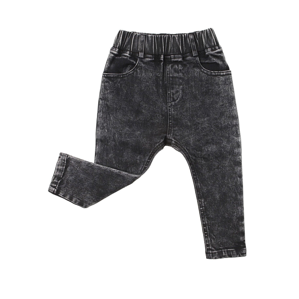 Stretch Denim Jeggings Black Acid - Threads for Boys