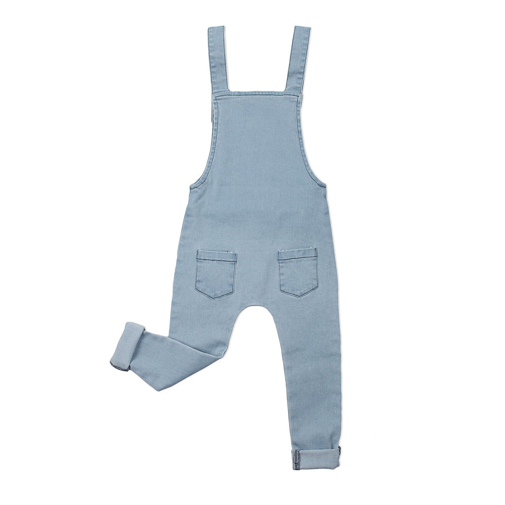 Stretch Denim Overalls Blue - Threads for Boys