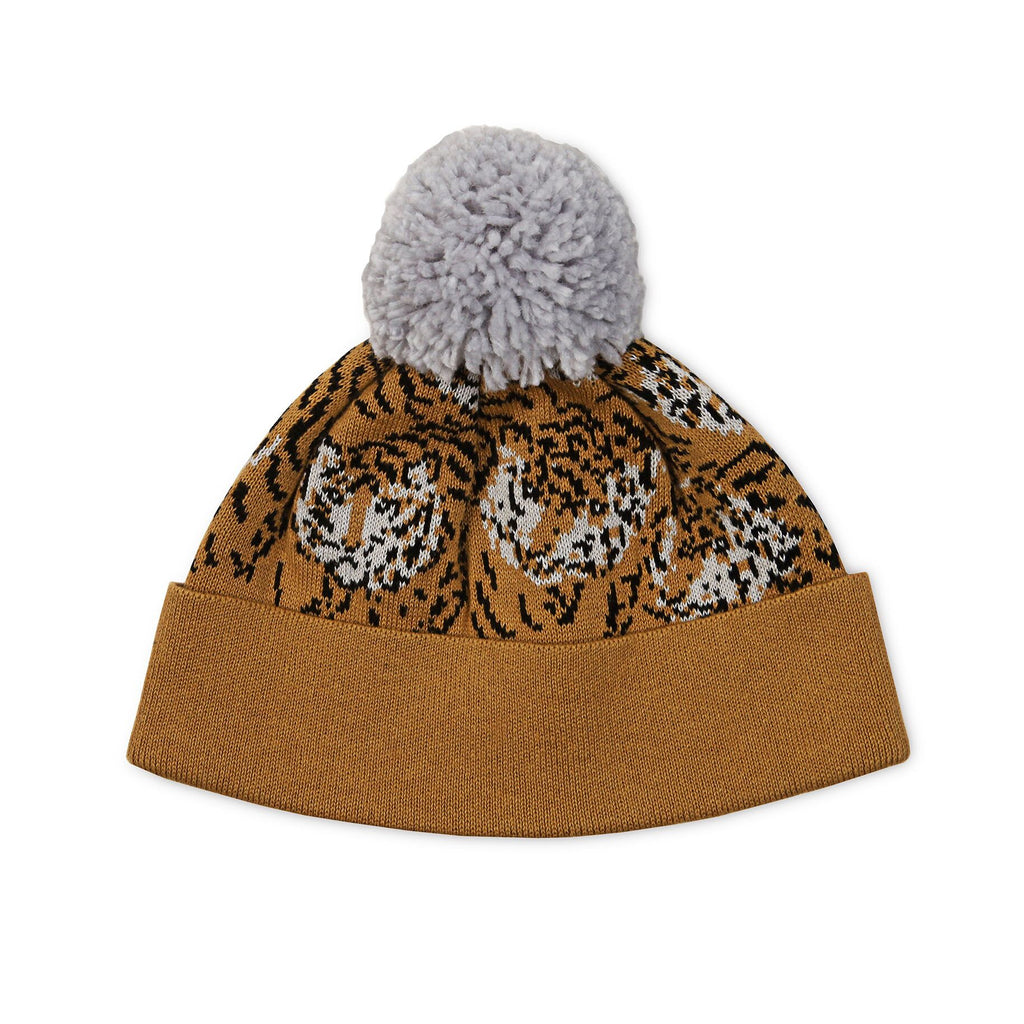 Tiger Pom Pom Beanie - Threads for Boys