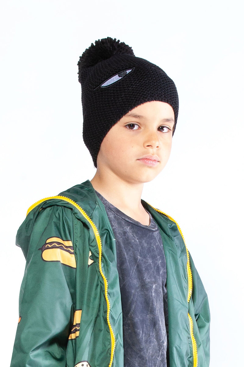 Sneaky Eyes Pom Pom Beanie - Threads for Boys