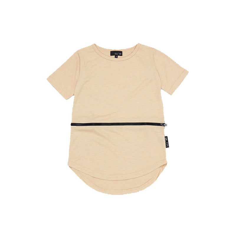 Lil Mr Zippy Conversion Tee Caramel - Threads for Boys