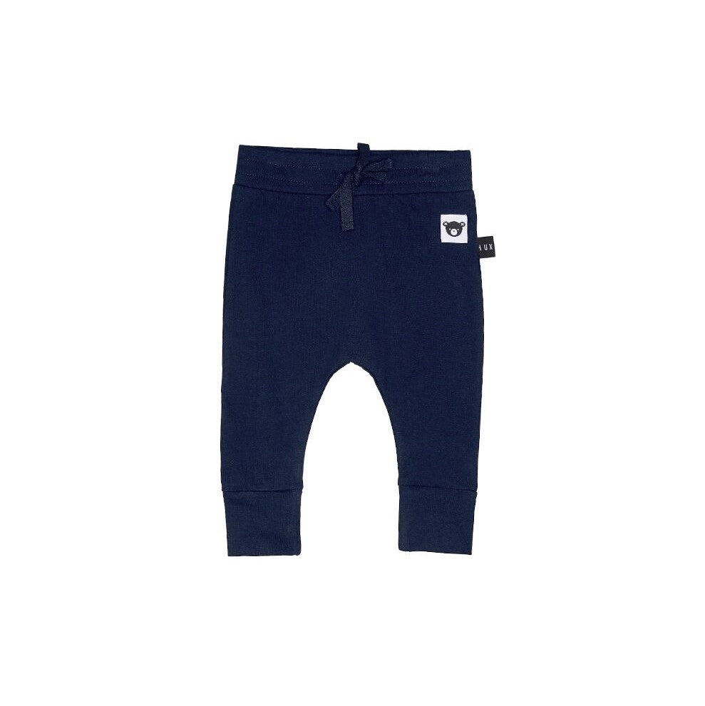 Huxbaby Navy Drop Crotch Pant - Threads for Boys