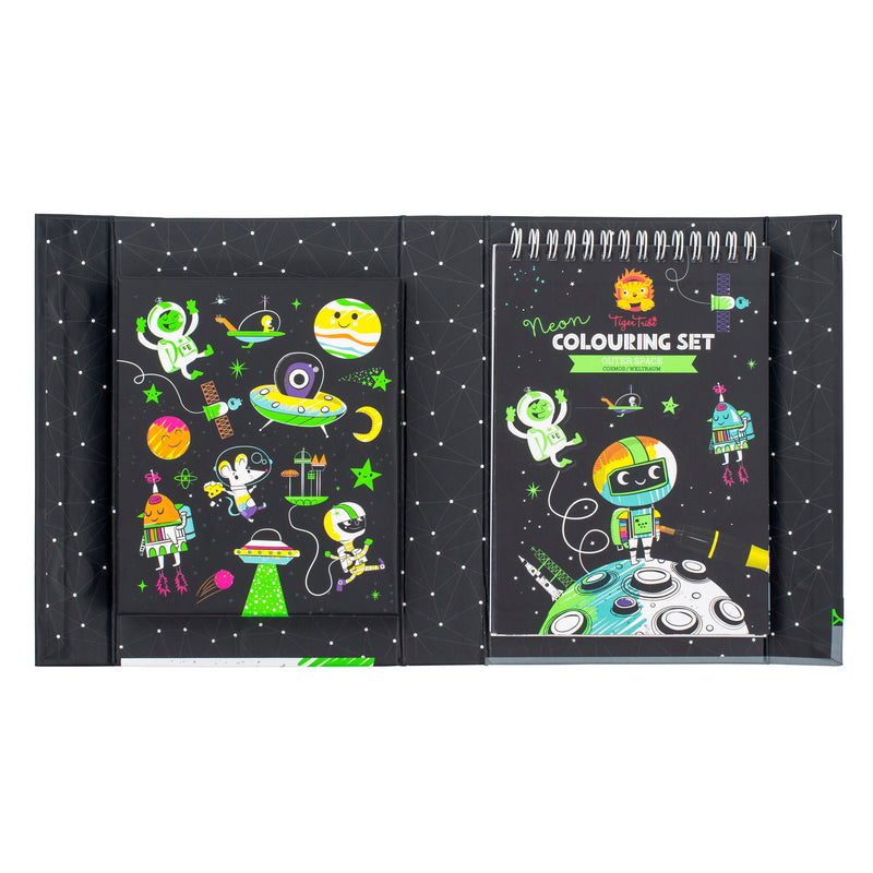 Tiger Tribe Neon Colouring Set - Outer Space - Threads for Boys