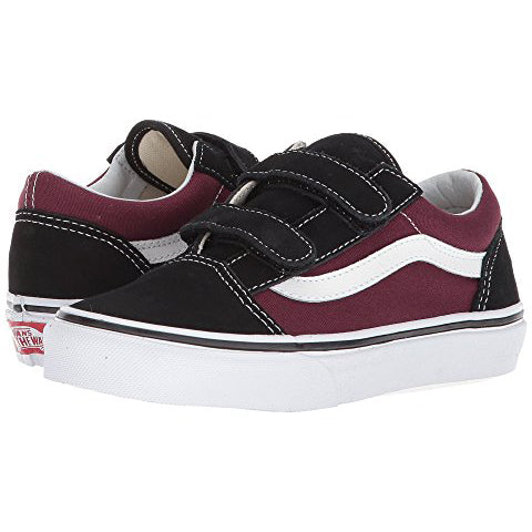 Vans Old Skool V Pop Burgundy - Threads for Boys