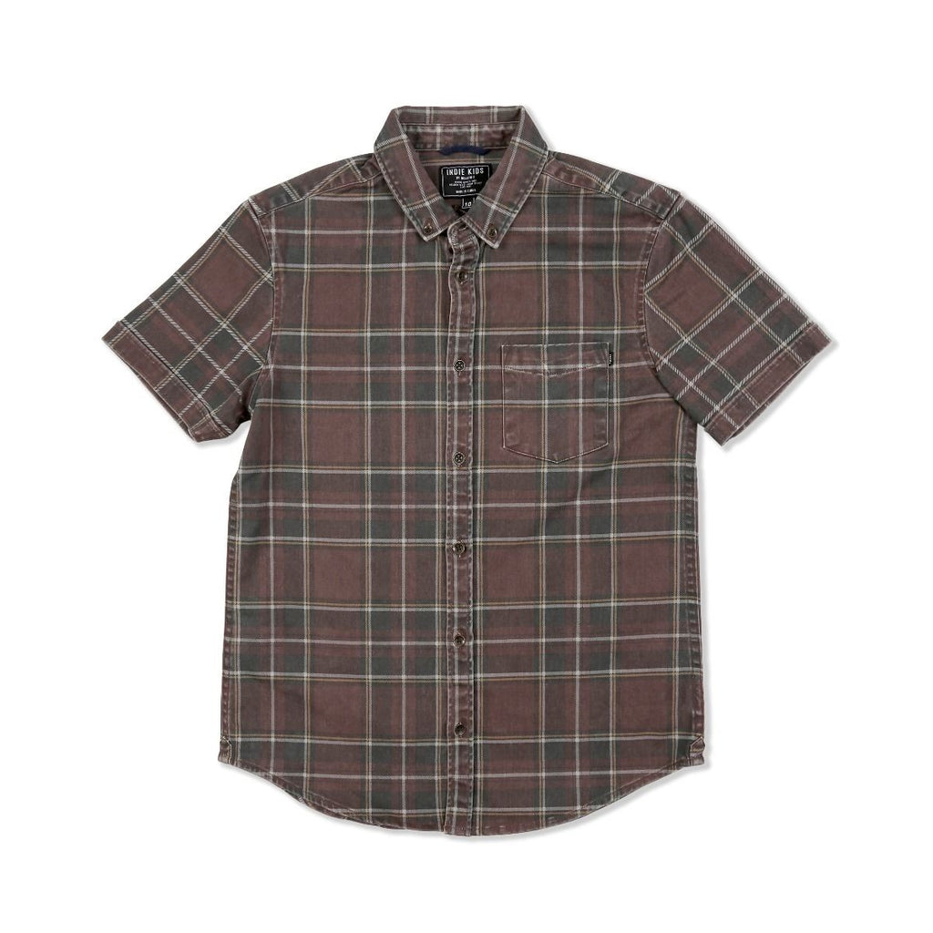 Indie Kids Plaid Roll Sleeve Shirt - Threads for Boys