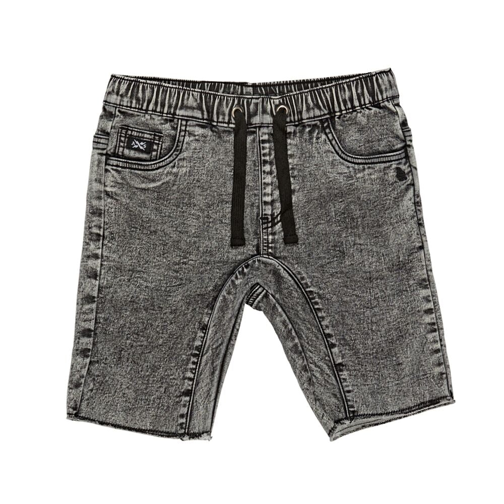 Alphabet Soup Grey Acid Jean Short - Threads for Boys