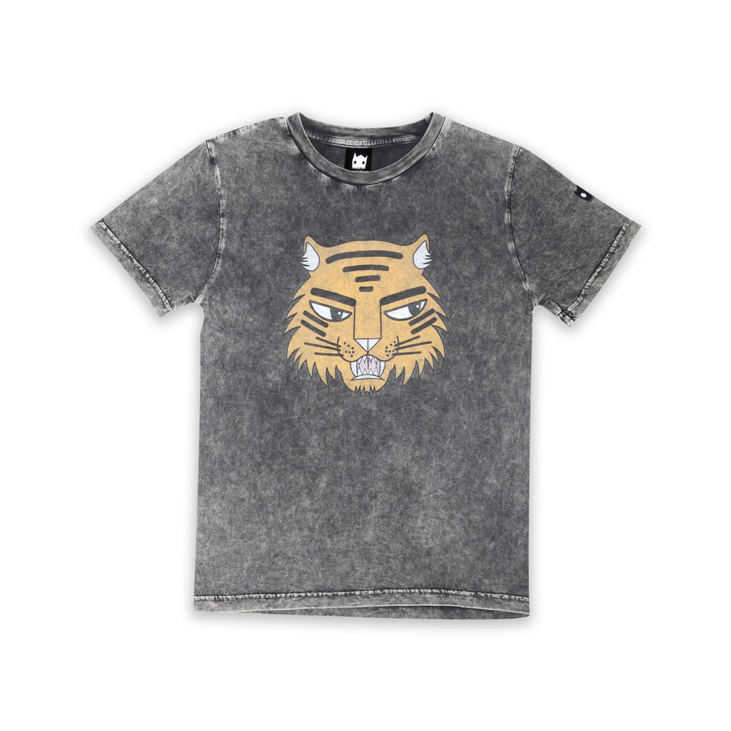 Tiger Badges Straight hem tee - Threads for Boys