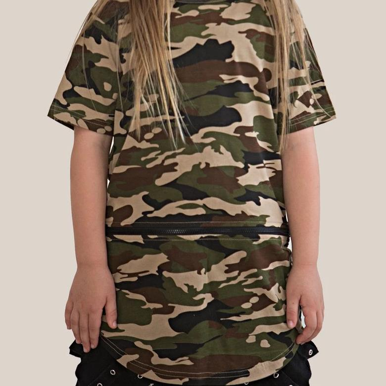 Lil Mr Zippy Conversion Tee Camo - Threads for Boys