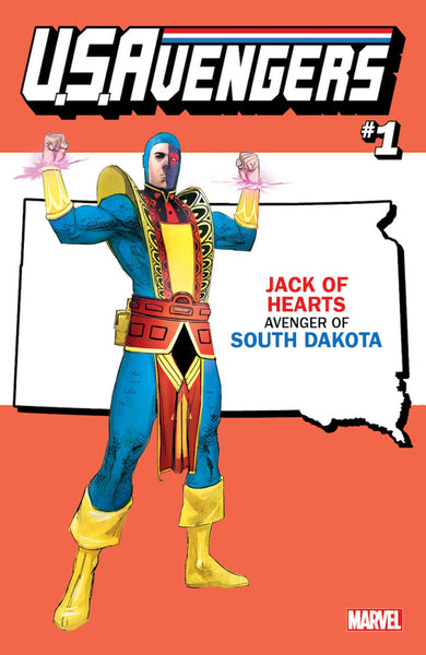 US AVENGERS #1 REIS SOUTH DAKOTA STATE VAR NOW