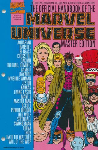 OFFICIAL HANDBOOK OF THE MARVEL UNIVERSE MASTER EDITION (1990) #21 - Kings Comics
