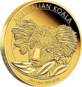 AUSTRALIAN KOALA 2014 1/4OZ GOLD PROOF COIN