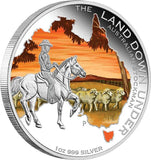 LAND DOWN UNDER – AUSTRALIAN STOCKMAN 2014 1OZ SILVER PROOF COIN