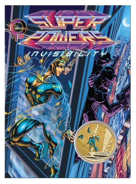 YOUNG COLLECTORS SUPER POWERS SERIES 2014 INVISIBILITY COIN - Kings Comics