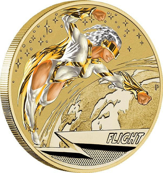 YOUNG COLL SUPER POWERS SER FLIGHT COIN