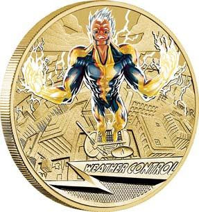 YOUNG COLLECTORS SUPER POWERS WEATHER CONTROL 2014 $1 COIN IN CARD