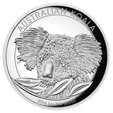 AUSTRALIAN KOALA 2014 1OZ SILVER PROOF HIGH RELIEF COIN