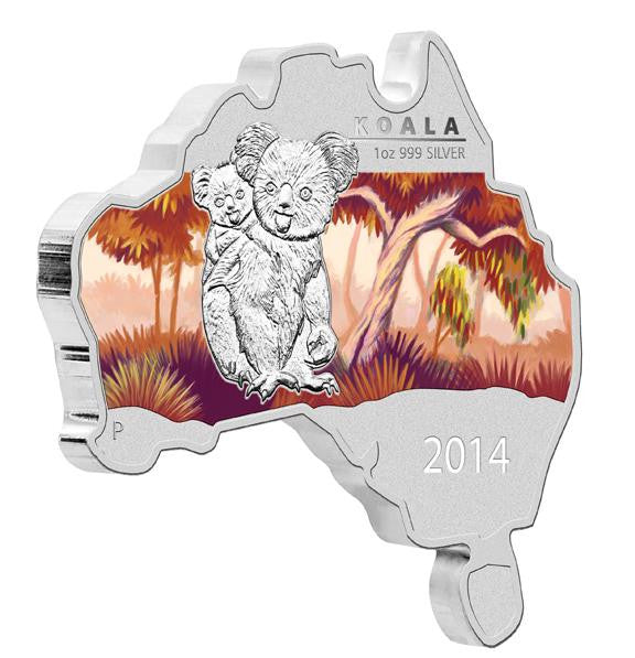 AUSTRALIAN MAP SHAPED COIN SER KOALA 14