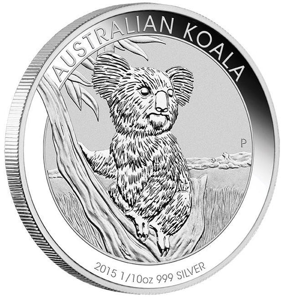AUSTRALIAN KOALA 2015 1/10OZ SILVER COIN IN CARD